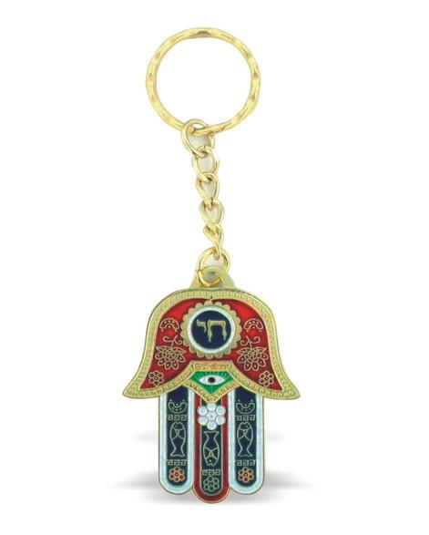 מחזיק מפתחות חי אדום עברית 6 סמ