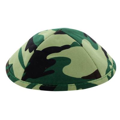 כיפה בד צבאי גווני ירוק 19 סמ