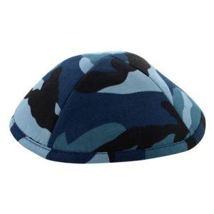 כיפה בד צבאי גווני כחול 19 סמ