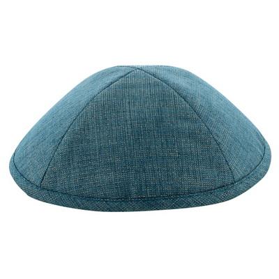 כיפה בד גוון כחול מנצנץ 19 סמ
