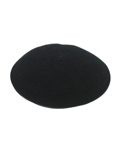 כיפה ד.מ.צ. 15 סמ שחור שחור
