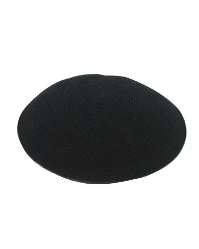 כיפה ד.מ.צ. 16 סמ שחור שחור