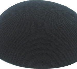 כיפה ד.מ.צ. 22 סמ שחור שחור