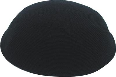 כיפה ד.מ.צ. 20 סמ שחור שחור
