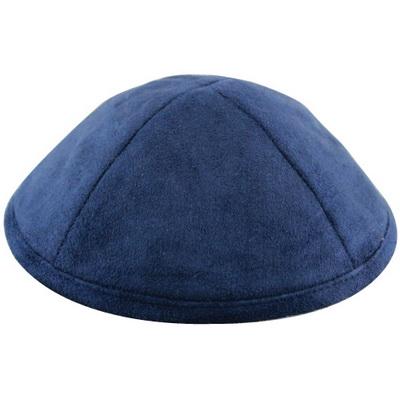 כיפה אולטרא סוויד כחול 19 סמ עם מקום לסיכה