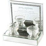 UK52397 - פמוטי זכוכית עם אבנים הדלקת נרות 1417 סמ