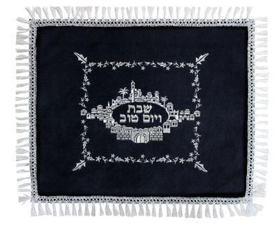 כיסוי חלה קטיפה 55x45 סמ ירושלים