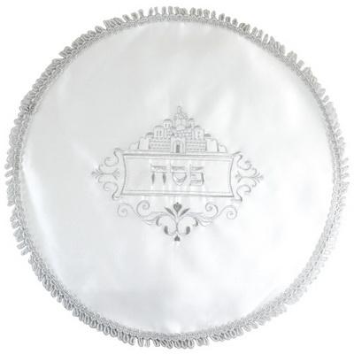"""כיסוי פסח סטן עם רקמה ירושלים 43 ס""""מ אריזת צלופן"""