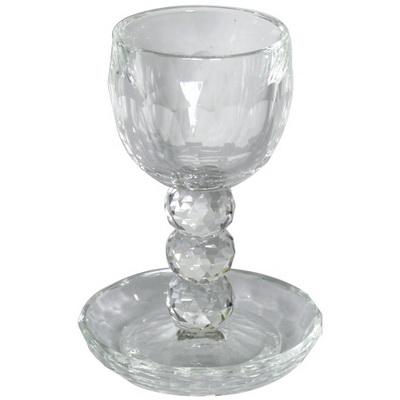 "גביע קריסטל עם רגל 14 ס""מ"