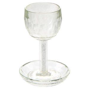גביע קריסטל מהודר עם אבנים 17 סמ