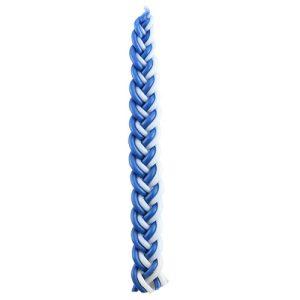 """נר הבדלה כחול לבן מהודר 30 ס""""מ"""