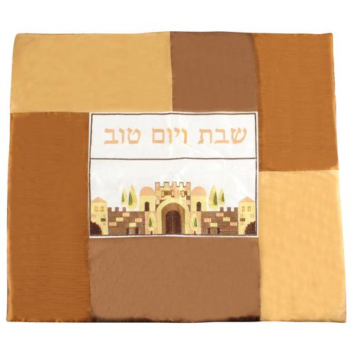 """כיסוי פלטה מהודר ריקמה צבעונית דגם """"רקמה ירושלים"""" 70*80 ס""""מ"""