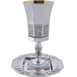 גביע הנהרות עם רגל + תחתיות