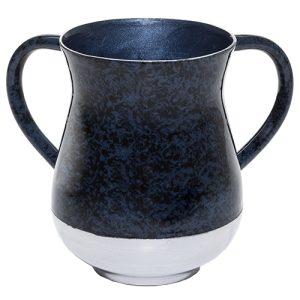 """נטלה מהודרת קלה מאלומיניום בגוון שיש גווני כחול 13ס""""מ"""