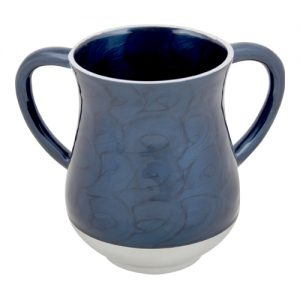 """נטלה אלומיניום 14 ס""""מ מהודרת בגוון כחול כהה"""