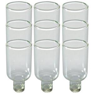 """תשיעיית כוסית זכוכית לשמן 4.7 ס""""מ"""