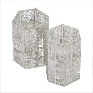"""זוג פמוטי קריסטל מהודרים 7.5x6 ס""""מ"""