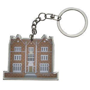 מחזיק מפתחות בית הרבי ותפילת הדרך עברית דגם 770